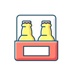 Beer to go rgb color icon vector