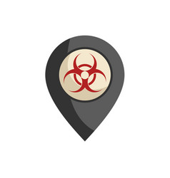 Biohazard zone vector