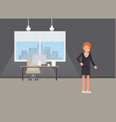 business power concept businesswoman standing vector image
