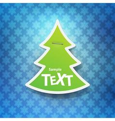 Christmas symbol tag vector image