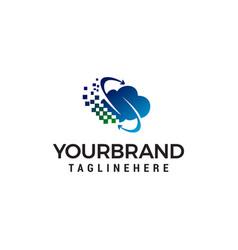 cloud logo design concept template vector image