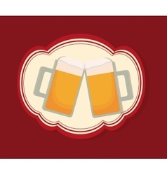 Cold beer glass vector