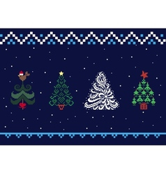 Collection of Christmas trees 05 vector image