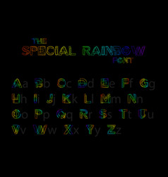colorful font and alphabet stylized special vector image