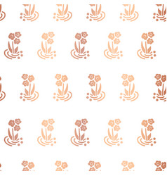 copper foil folk flower on white background vector image