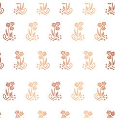 copper foil folk flower on white background vector image