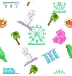 Country Singapore pattern cartoon style vector