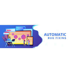 cross platform bug founding concept banner header vector image