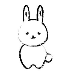 Cute and tender rabbit kawaii style vector