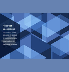 Dark blue geometry abstract background vector