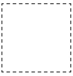 Dashed line squares thin and thick lines cut vector