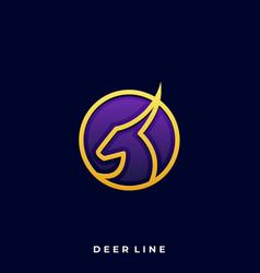 deer luxury design template vector image