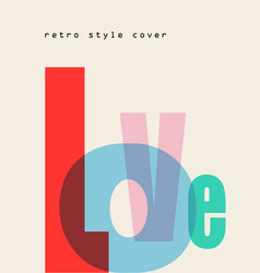 design composition love font vector image
