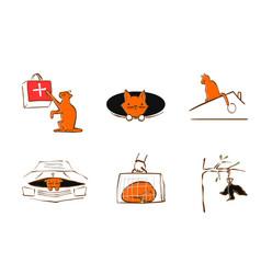design for pet rescue service vector image