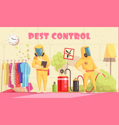 Domestic pest control background vector