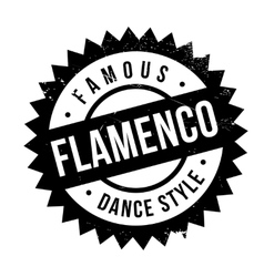 Famous dance style flamenco stamp vector image