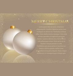 festive background with christmas balls card vector image