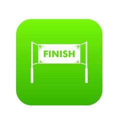 finish line gates icon digital green vector image