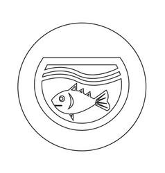 Fish in aquarium icon design vector