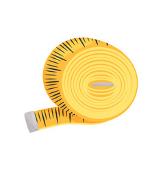 flat icon of bright yellow sewing tape vector image
