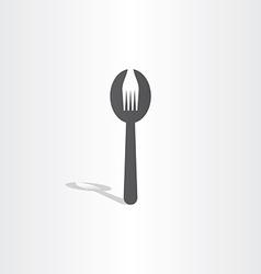 fork spoon icon design vector image