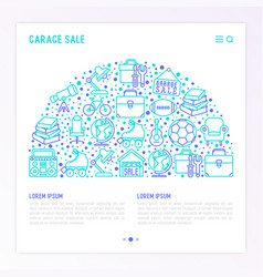 garage sale concept in half circle vector image