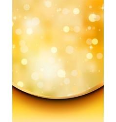 Gold glitter on a light orange background eps 8 vector