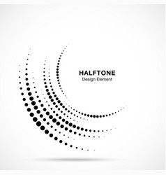 Halftone incomplete circle frame vector
