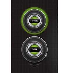 hi-tech enter buttons vector image