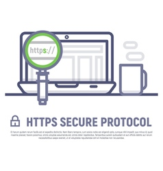 Https secure icon stock vector