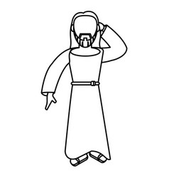 jesus christ catholic faceless outline vector image