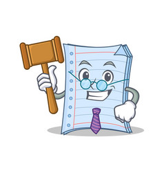 Judge notebook character cartoon design vector
