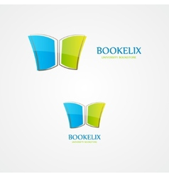 Logo of open book vector