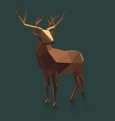 low poly deer vector image