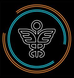 medical symbol - caduceus icon - health sig vector image