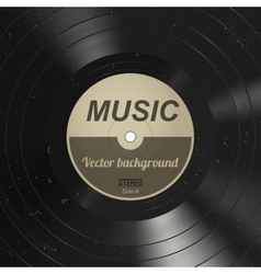 Music vinyl background vector image