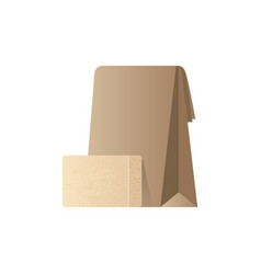 natural handmade organic soap bar with paper bag vector image