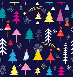 new pattern christmas trees vector image
