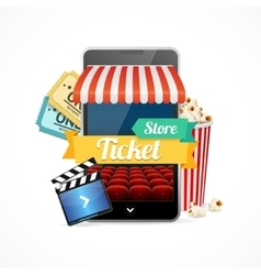 On-line Cinema Concept vector image