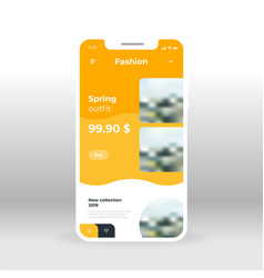orange fashion clothes ui ux gui screen for vector image