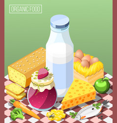 organic food isometric composition vector image