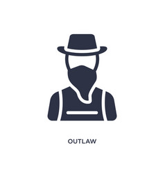 Outlaw icon on white background simple element vector