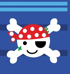 Pirate baby vector
