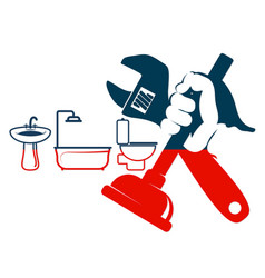 Plumbing repairs and cleaning vector