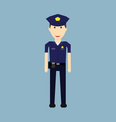 police character designmale security officer vector image