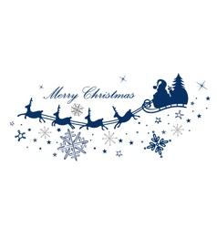 Reindeer santa claus vector image