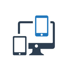 Responsive design icon vector