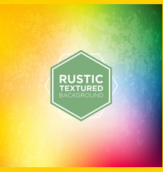 Rustic grunge background in sunshine rainbow tones vector
