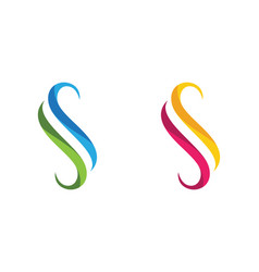 s letter logo icon design template vector image