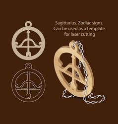 Sagittarius zodiac signs can be used as a vector